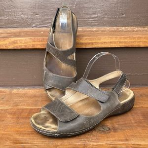 Wolky Double Strap Leather Liana Sandals